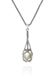 Effy Round Freshwater Pearl Necklace in Sterling Silver
