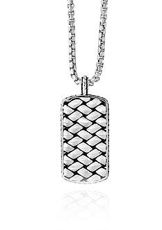 Effy® Woven Pendant Necklace in Sterling Silver
