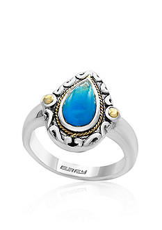 Effy Pear Cut Turquoise Ring in Sterling Silver & 18K Yellow Gold