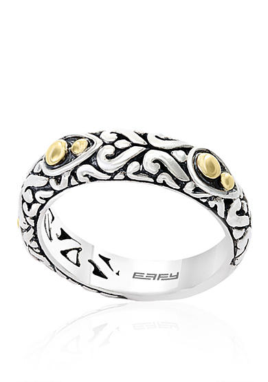 Effy® Sterling Silver and 18k Yellow Gold Band