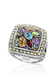 Effy® Multi Colored Ring in Sterling Silver and 18K Yellow Gold