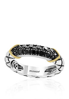 Effy 0.46 ct. t.w. Black Diamond Band in Sterling Silver with 14k Yellow Gold