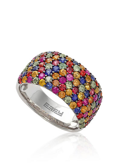 Effy® Sapphire Multicolored Ring in 10K Sterling Silver
