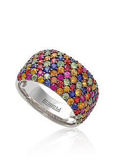 Effy Sapphire Multicolored Ring in 10K Sterling Silver