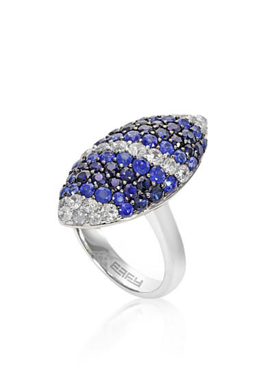 Effy® Sapphire Ombre Ring in 10K Sterling Silver