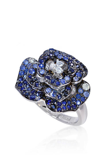 Effy® Sapphire Rose Ring in 10K Sterling Silver
