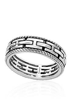 Effy Link Design Ring in Sterling Silver
