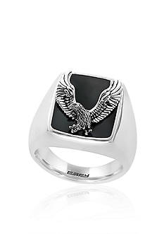 Effy® Onyx Eagle Ring in Sterling Silver