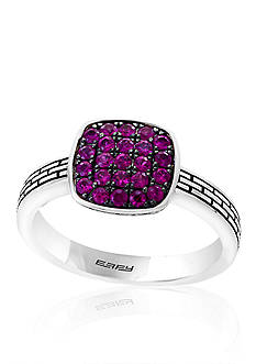 Effy Ruby Pave Ring in Sterling Silver
