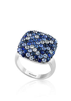 Effy Sapphire Square Ring in 10K Sterling Silver