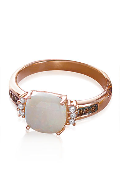 Effy® Opal and Diamond Ring in 14K Rose Gold