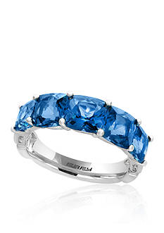 Effy London Blue Topaz Ring in 14k White Gold