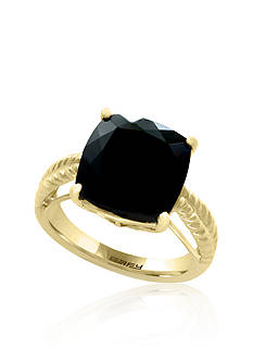 Effy Cushion Cut Onyx Ring in 14k Yellow Gold
