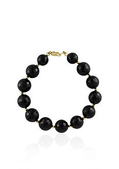 Effy® Onyx Beaded Bracelet in 14K Yellow Gold