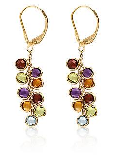 Effy Multi-Stone Drop Earrings in 14k Yellow Gold