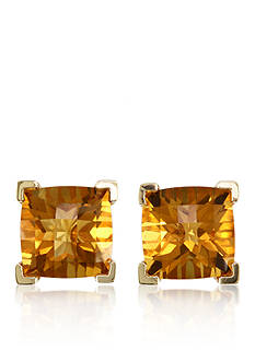 Effy Citrine Stud Earrings in 14k Yellow Gold