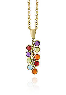 Effy® Multicolored Amethyst Pendant Necklace in 14k Yellow Gold
