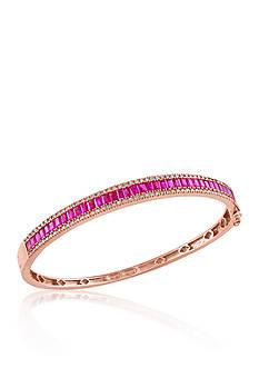 Effy Baguette Ruby & Diamond Bangle in 14K Rose Gold