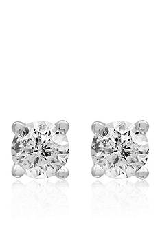 Effy 1/6 ct. t.w. Classic Diamond Stud Earrings in 14K White Gold