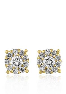 Effy Diamond Stud Earrings in 14K Yellow Gold