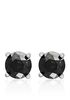 Effy 1.00 ct. t.w. Black Diamond Studs in 14K White Gold