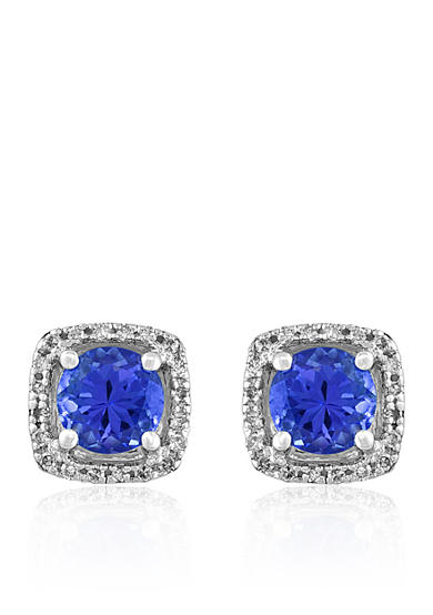 Effy® Tranzanite & Diamond Earrings in 14K White Gold