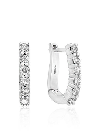Effy® 0.47 ct. t.w. Diamond Hoop Earrings in 14K White Gold