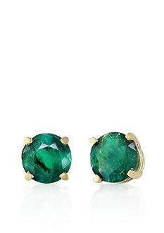 Effy Emerald Earrings in 14k Yellow Gold
