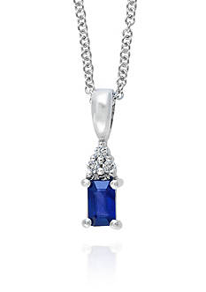 Effy Emerald Sapphire & Diamond Necklace in 14K White Gold