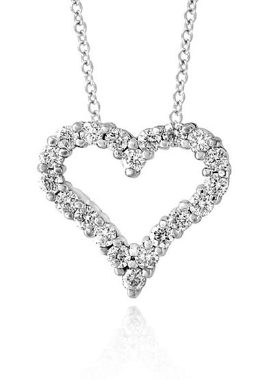 Effy® Diamond Heart Pendant in 14K White Gold