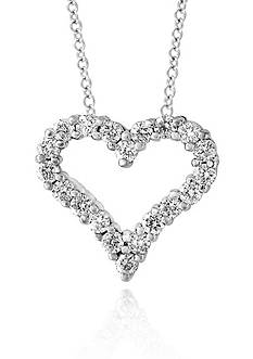 Effy Diamond Heart Pendant in 14K White Gold