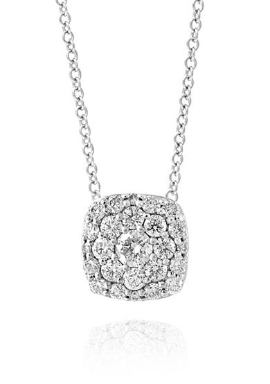 Effy® 0.49 ct. t.w. Diamond Square Cluster Pendant in 14K White Gold