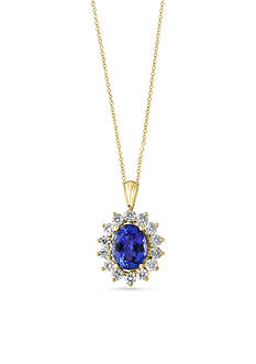 Effy Tanzanite and Diamond Pendant Necklace in 14k Yellow Gold