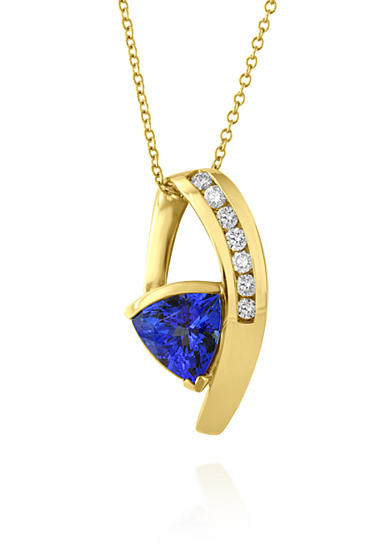 Effy® Tanzanite and Diamond Pendant Necklace in 14K Yellow Gold