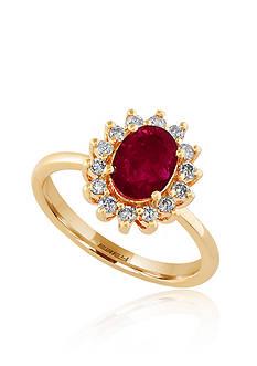 Effy Oval Ruby & Diamond Ring in 14K Rose Gold
