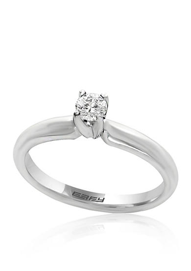 Effy® 0.20 ct. t.w. Diamond Solitaire Ring in 14K White Gold