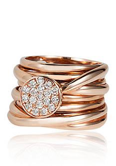 Effy Multiple Band Diamond Ring in 14K Rose Gold