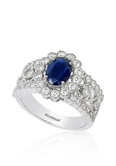 Effy Oval Sapphire & Diamond Ring in 14K White Gold
