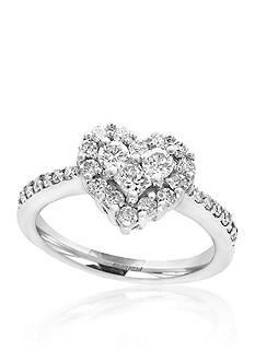 Effy 0.84 ct. t.w. Diamond Heart Ring in 14K White Gold