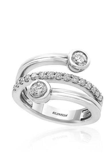 Effy® 0.75 ct. t.w. Diamond Wrap Ring in 14K White Gold