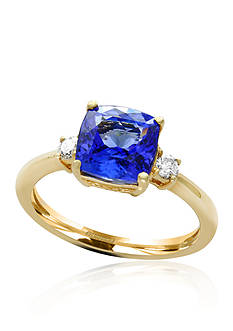 Effy Tanzanite and Diamond Ring in 14K Yellow Gold