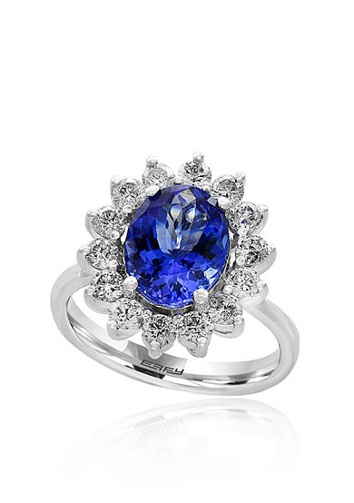 Effy® Tanzanite and Diamond Ring in 14K White Gold