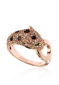 Effy Diamond & Emerald Leopard Ring in 14K Rose Gold