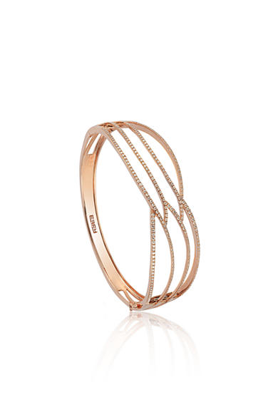 Effy® 1.05 ct. t.w. Diamond Bangle in 14K Rose Gold