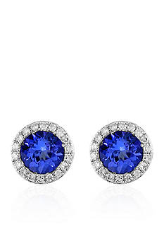 Effy® Tanzanite and Diamond Earrings in 14k White Gold