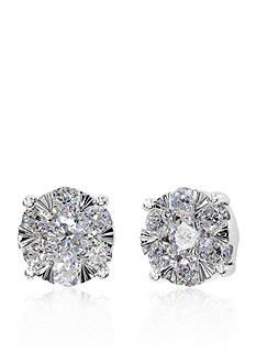 Effy 0.84 ct. t.w. Diamond Cluster Earrings in 14K White Gold