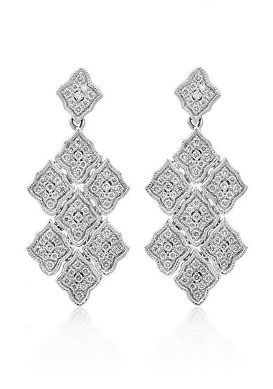 Effy® Diamond Drop Earrings in 14K White Gold