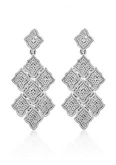 Effy Diamond Drop Earrings in 14K White Gold
