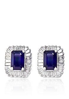 Effy Emerald Sapphire & Diamond Earrings in 14K White Gold