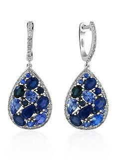 Effy Sapphire & Diamond Earrings in 14K White Gold